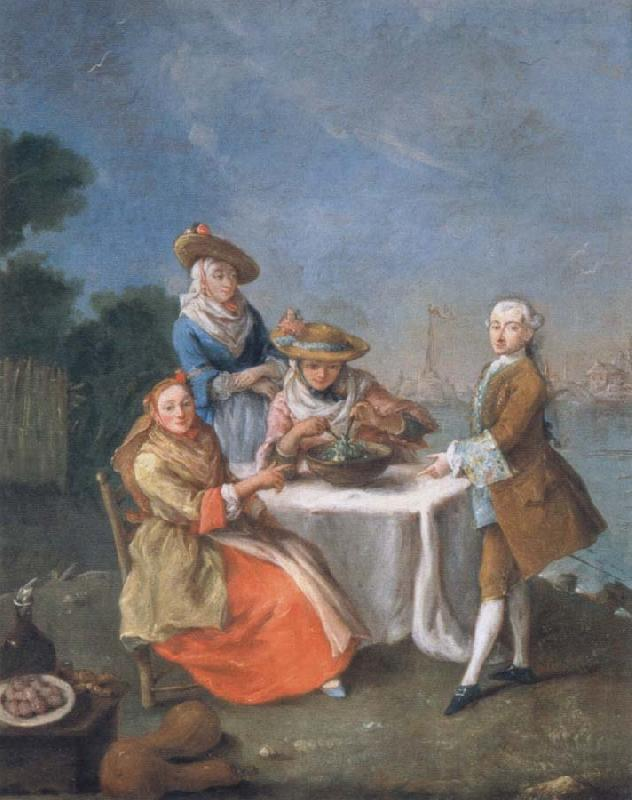 Pietro Longhi In the Gemusegarten at the Flussmundung