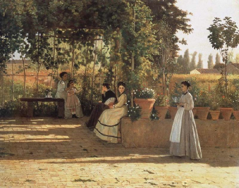 Silvestro lega In the wine bower