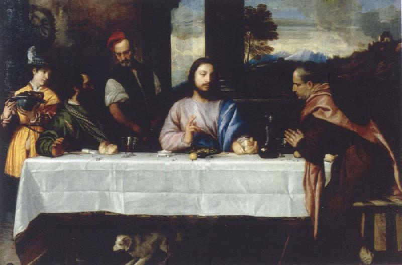 TIZIANO Vecellio The meal in Emmaus