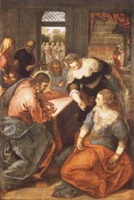 Tintoretto Christ in Maria and Marta