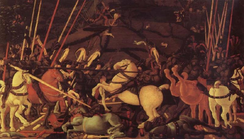 UCCELLO, Paolo The battle of San Romano the victory uber Bernardino della Carda oil painting image