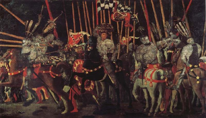 UCCELLO, Paolo The battle of San Romano the intervention of Micheletto there Cotignola