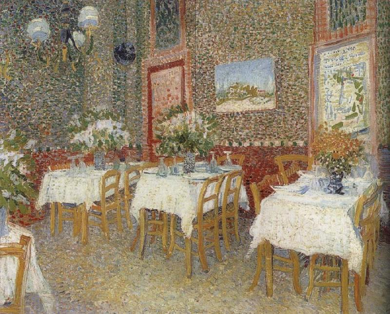 Vincent Van Gogh Interieur of a restaurant