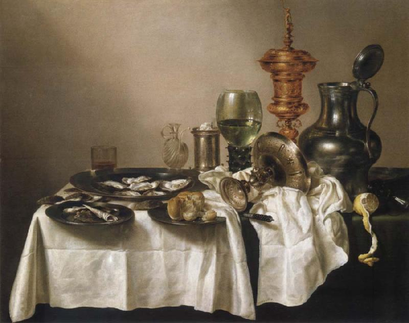 Willem Claesz Heda Style life with gilded cup
