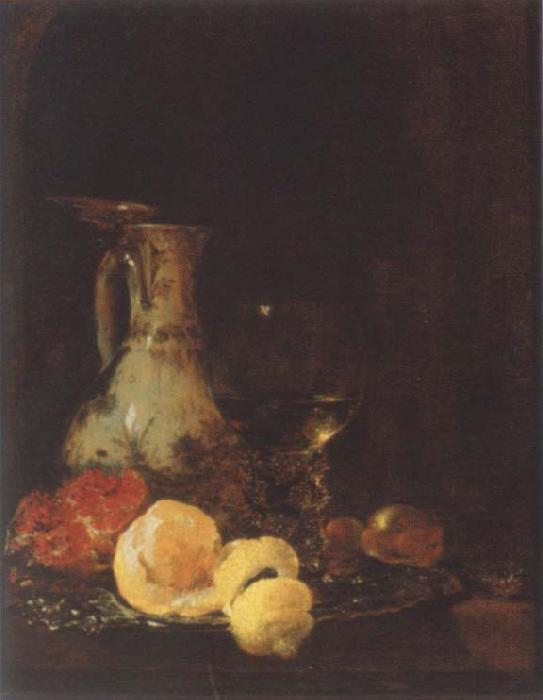 Willem Kalf Style life with Porzellankanme
