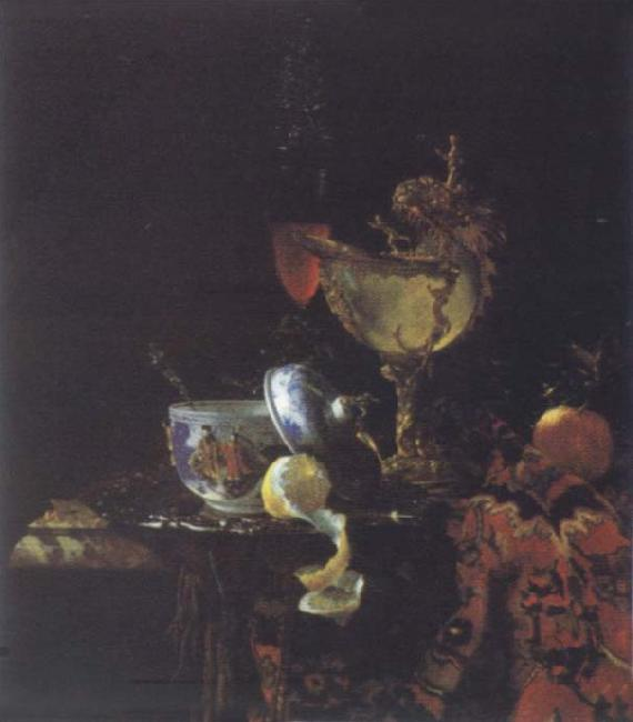 Willem Kalf Style life with Nautilus goblet