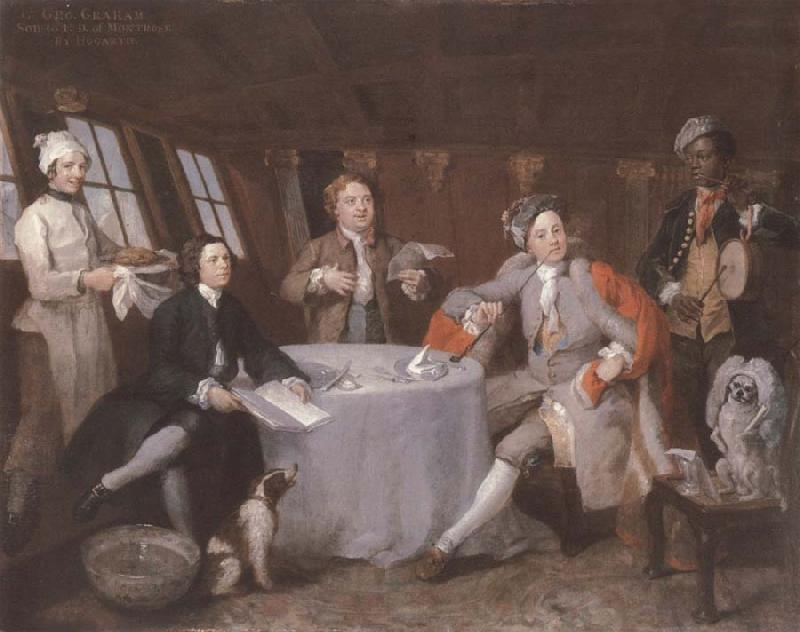 William Hogarth Museum nationally maritime Portrat the lord George Graham in its Kajute