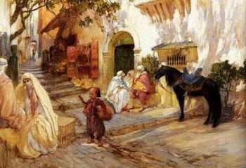 unknow artist Arab or Arabic people and life. Orientalism oil paintings 337