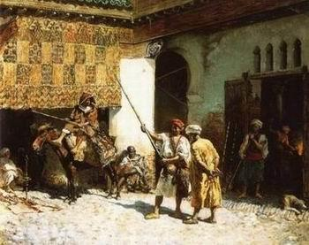 unknow artist Arab or Arabic people and life. Orientalism oil paintings  281