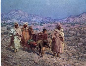 unknow artist Arab or Arabic people and life. Orientalism oil paintings  431