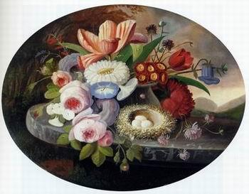 unknow artist Floral, beautiful classical still life of flowers 011