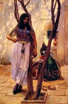 unknow artist Arab or Arabic people and life. Orientalism oil paintings  490