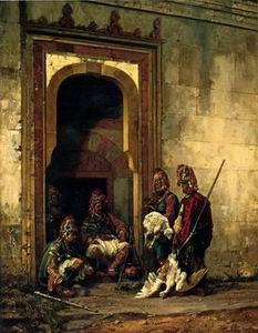 unknow artist Arab or Arabic people and life. Orientalism oil paintings 145