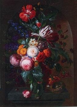 unknow artist Floral, beautiful classical still life of flowers 03