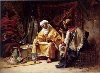 unknow artist Arab or Arabic people and life. Orientalism oil paintings 211