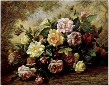 unknow artist Floral, beautiful classical still life of flowers.086