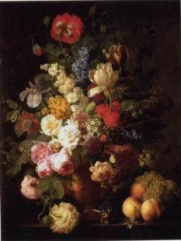 unknow artist Floral, beautiful classical still life of flowers.058