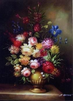 unknow artist Floral, beautiful classical still life of flowers.127