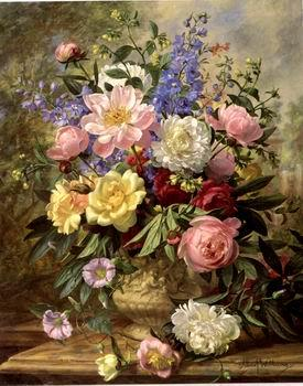 unknow artist Floral, beautiful classical still life of flowers.093