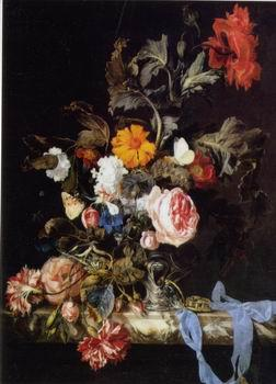 unknow artist Floral, beautiful classical still life of flowers.045