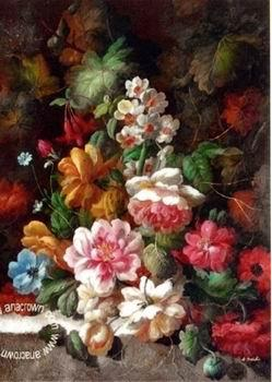 unknow artist Floral, beautiful classical still life of flowers.074