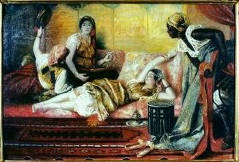 unknow artist Arab or Arabic people and life. Orientalism oil paintings  257