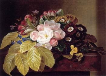 unknow artist Floral, beautiful classical still life of flowers.037