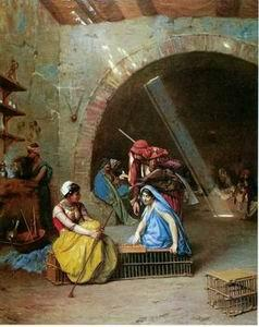 unknow artist Arab or Arabic people and life. Orientalism oil paintings 32