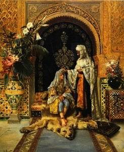 unknow artist Arab or Arabic people and life. Orientalism oil paintings  235