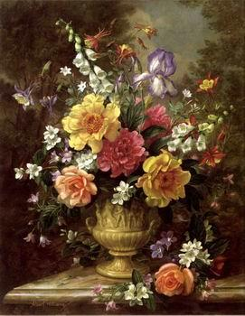 unknow artist Floral, beautiful classical still life of flowers.112