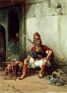 unknow artist Arab or Arabic people and life. Orientalism oil paintings 181