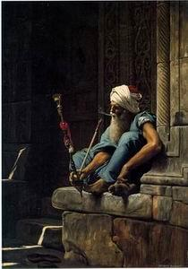 unknow artist Arab or Arabic people and life. Orientalism oil paintings 162