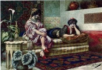unknow artist Arab or Arabic people and life. Orientalism oil paintings 133