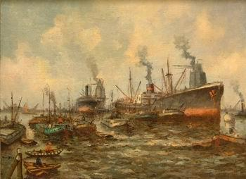 unknow artist Seascape, boats, ships and warships. 150