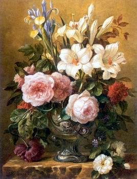 unknow artist Floral, beautiful classical still life of flowers.125