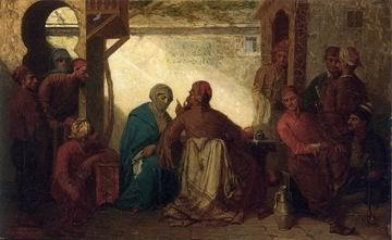 unknow artist Arab or Arabic people and life. Orientalism oil paintings 560