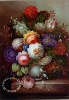 unknow artist Floral, beautiful classical still life of flowers.103