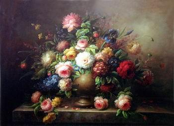 unknow artist Floral, beautiful classical still life of flowers.067