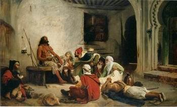 unknow artist Arab or Arabic people and life. Orientalism oil paintings 71