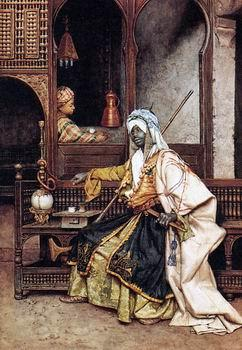 unknow artist Arab or Arabic people and life. Orientalism oil paintings  491