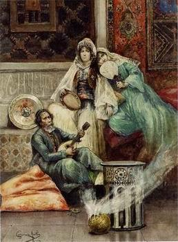 unknow artist Arab or Arabic people and life. Orientalism oil paintings 617