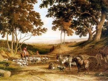 unknow artist Classical hunting fox, Equestrian and Beautiful Horses, 017.