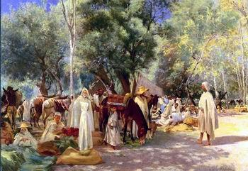unknow artist Arab or Arabic people and life. Orientalism oil paintings  479