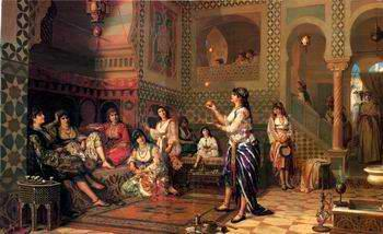 unknow artist Arab or Arabic people and life. Orientalism oil paintings  377