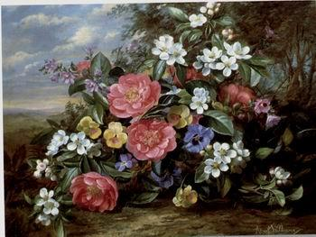 unknow artist Floral, beautiful classical still life of flowers.080