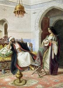 unknow artist Arab or Arabic people and life. Orientalism oil paintings 127