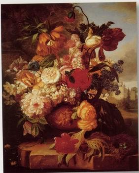 unknow artist Floral, beautiful classical still life of flowers.104