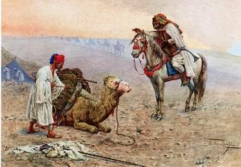 unknow artist Arab or Arabic people and life. Orientalism oil paintings  402