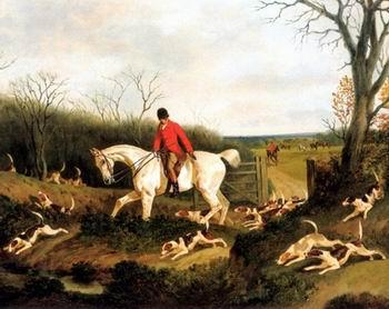 unknow artist Classical hunting fox, Equestrian and Beautiful Horses, 197.