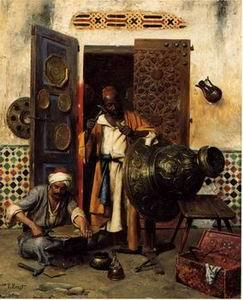 unknow artist Arab or Arabic people and life. Orientalism oil paintings 172